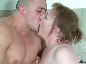Guy brings his raging bonerin mature
