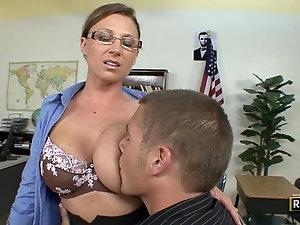 Big ass mature teacher has her way with naughty student