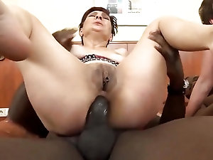Mature women get their assholes destroyed by big black dicks