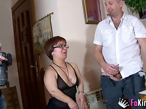 Naughty mature midget Sara One craves for a giant dong