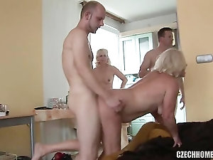 Sleeping blowjob gang bang