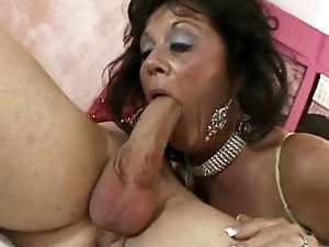 Girl stuffs pussy with cucumber