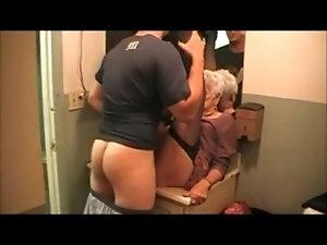 Toilet on sluts mature fucking