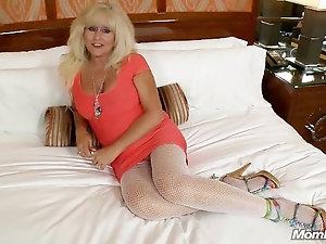 Cum tanned Older woman