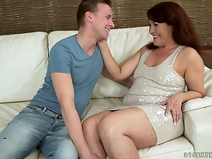 Horny plump mature 03