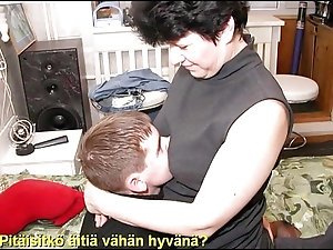 Old woman yang boy sex