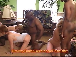 Naughty guys enjoy interracial orgy