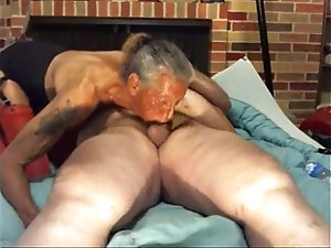 Old woman deep throat cock sucking