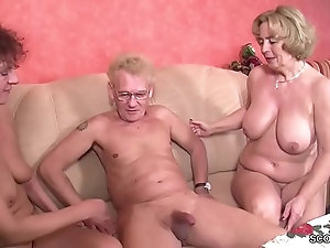 threesome Elegant mature