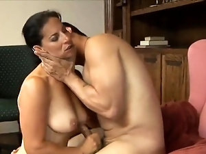 Grannies with big breasts having sex