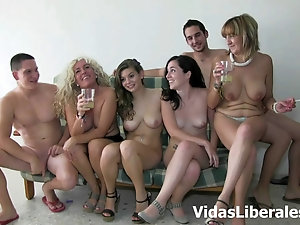 Women nude group mature
