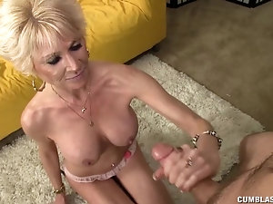Sexy milf gets dick from buddy