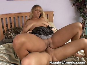 Blonde milf and boy video