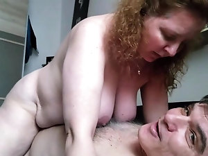 Can cock rides big granny redhead this all became