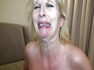 Mature lady enjoys a huge cock