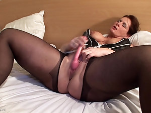 Big mature solo fun