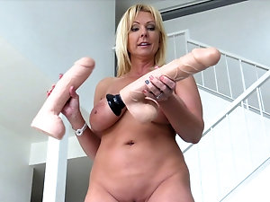 Naked old grandma with dildos duly