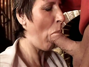 Old women blow job