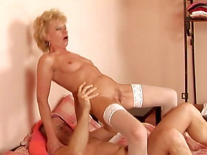Amateur skinny blonde mature with you