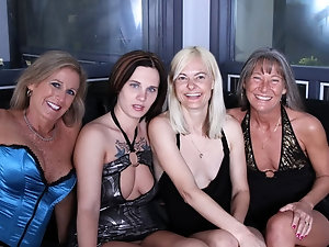 Mature group sex video