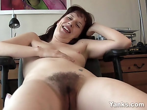 Mouth Watering Redhead Woman Enjoys Wanking Her Pussy For The Camera